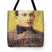 Honus Wagner Mosaic Tote Bag by Paul Van Scott