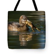 Hooded Merganser And Bullfrog Tote Bag