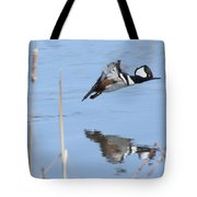 Hooded Merganser Flying Tote Bag