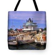 Hooper Strait Lighthouse - Fs000115 Tote Bag