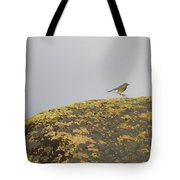 Hopping Blue Bird Tote Bag