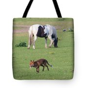 Horse And Fox Tote Bag