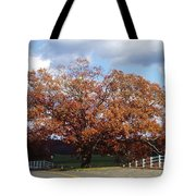 Horse Barn Hill In Autumn Tote Bag
