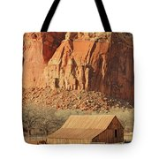 Horse Barn In Fruita Utah Tote Bag
