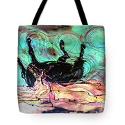 Horse Born Of Earth Water Sky Tote Bag by Carol Law Conklin