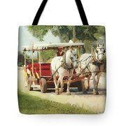 Horse Carriage Mackinac Island Michigan Tote Bag