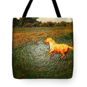 Horse Frolicking Tote Bag