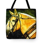 Horse In Paint Tote Bag