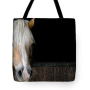 Horse In The Stable Tote Bag