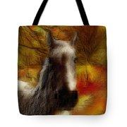 Horse On The Farm Tote Bag