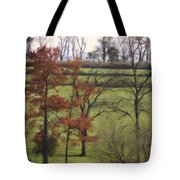 Horse On The Pasture Tote Bag