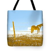 Horse Pasture Revblue Tote Bag