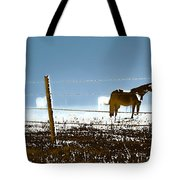 Horse Pasture Revdkblue Tote Bag
