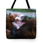 Horse Racing Horses Breaking From The Tote Bag