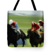 Horse Racing, Ireland Jockeys Racing Tote Bag