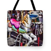 Horse Ride Tote Bag