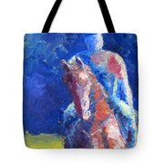 Horse Rider Tote Bag