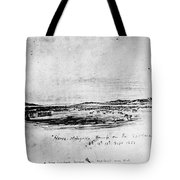 Horse Slaughter Camp 1858 Tote Bag