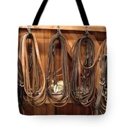 Horse Tack And Reins Tote Bag