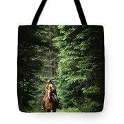 Horseback Riding On An Emerald Lake Tote Bag