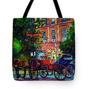 Horsedrawn Carriage Tote Bag