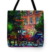 Horsedrawn Carriage Tote Bag