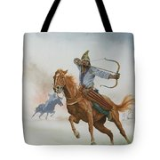 Horsemen From The Steppes Tote Bag