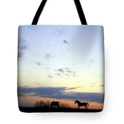 Horses And Sky Tote Bag