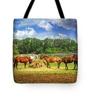 Horses At The Ranch Tote Bag