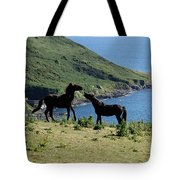 Horses By The Sea Tote Bag