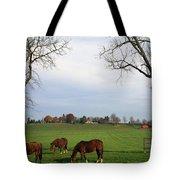Horses Grazing Tote Bag