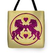Horses Love Dance Tote Bag