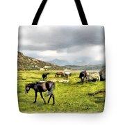 Horses Of Wyoming Tote Bag