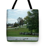 Horses On The Farm 1 Tote Bag