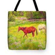 Horses Paradise Tote Bag