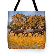 Horses Running Free Tote Bag
