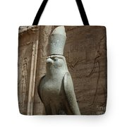 Horus The Falcon At Edfu Tote Bag by Bob Christopher