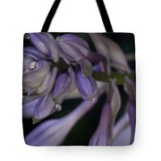 Hosta Blossoms With Dew Drops 6 Tote Bag
