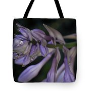 Hosta Blossoms With Dew Drops Tote Bag