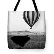 Hot Air Balloon Shadows Tote Bag