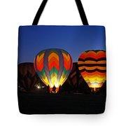 Hot Air Balloons At Dusk Tote Bag