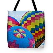 Hot Air Balloons Panorama Tote Bag