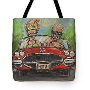 Hot Fun Corvette Tote Bag