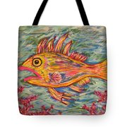 Hot Lips The Fish Tote Bag