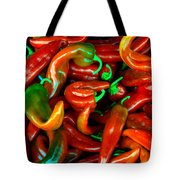 Hot Peppers Tote Bag by Robert Bales