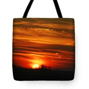 Hot Summer Night Sunset Tote Bag