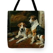 Hounds In A Stable Interior Tote Bag