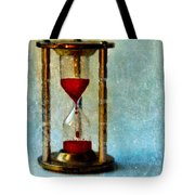 Hour Glass Dripping Blood Tote Bag