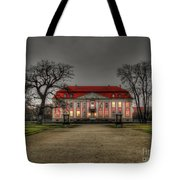 House Illuminated And With Trees Branches Tote Bag