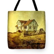 House In Dandelion Paradise Tote Bag